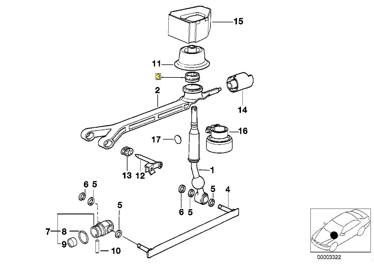 BMW Gear Stick Shift Lever Pivot Bearing Bush 1220600