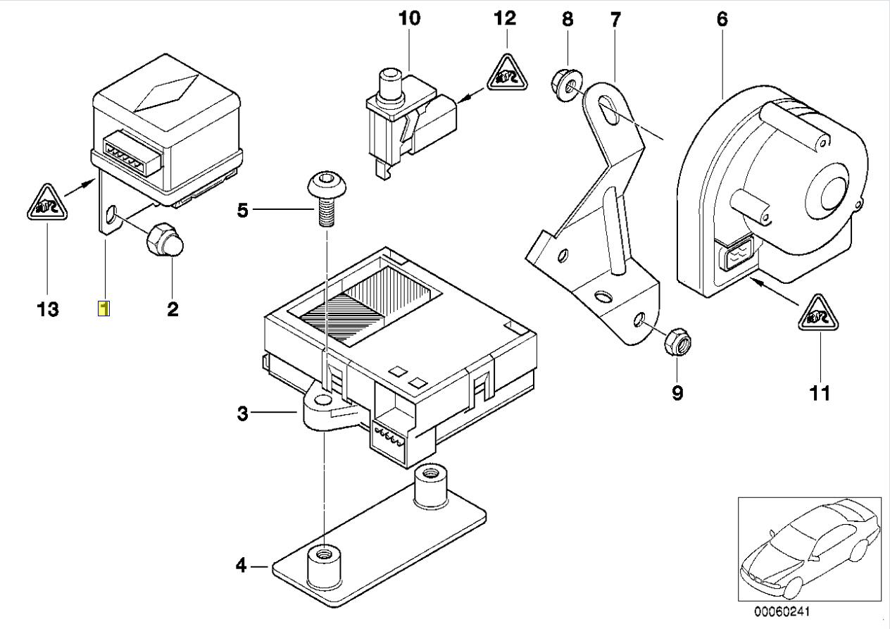 Bmw E39 E38 E46 Alarm Angle Tilt Sensor Switch