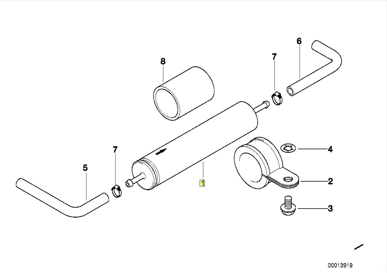 Bmw E34 E31 E46 E39 E36 Z3 Filtre Carburant Essence