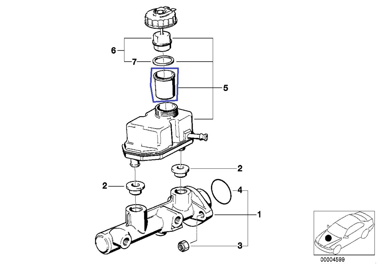 Bmw E38 E39 Bremsflussigkeit Tank Sieb Filter