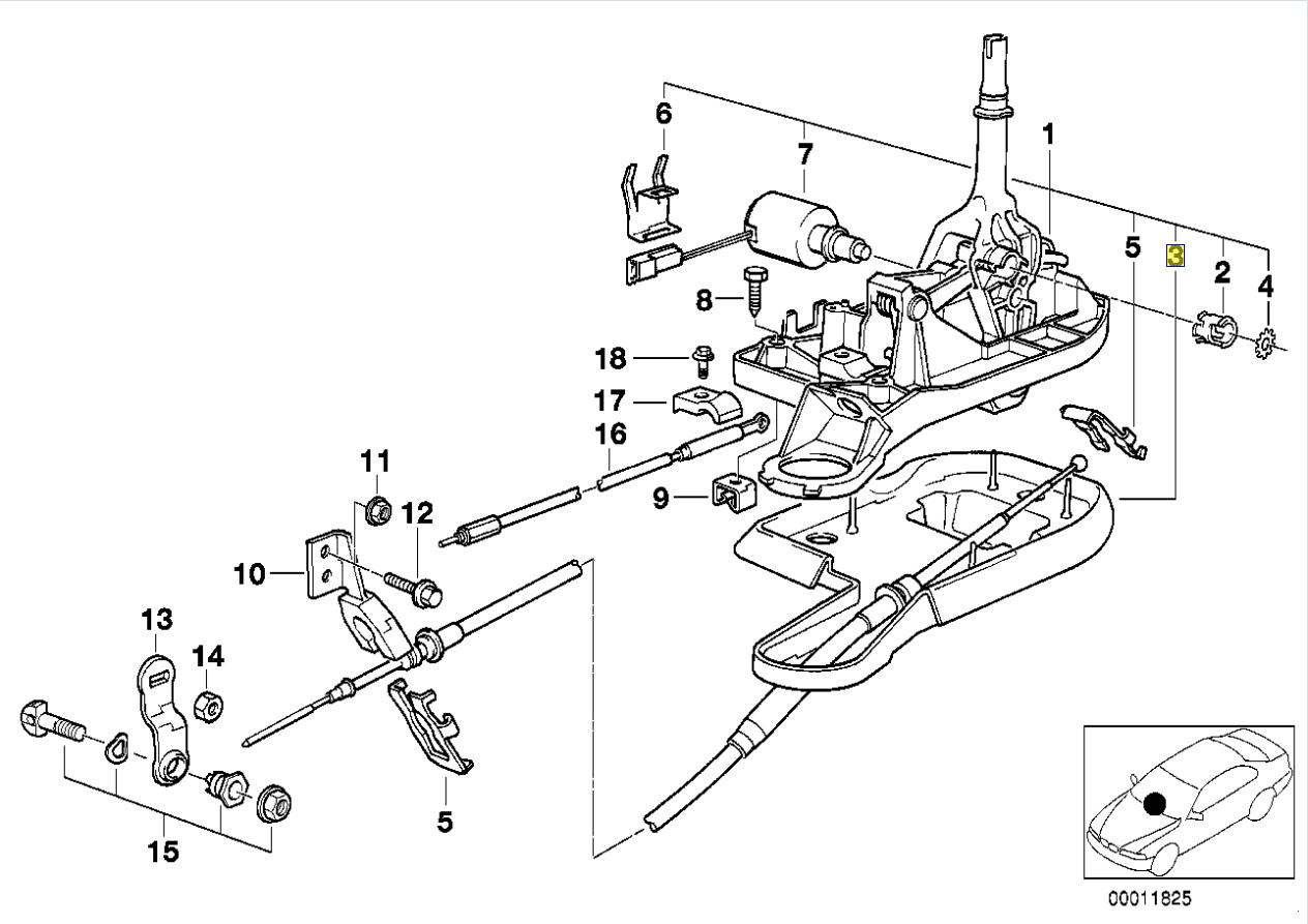 Bmw E38 Auto Gear Shift Selector Cable Grommet