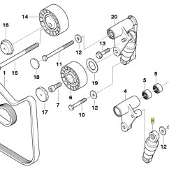 E46 Alternator Diagram Rockford Fosgate P3001 Wiring Bmw M50 M52 M54 S50 S54 V Belt Tensioner Seal 1717188 Ebay