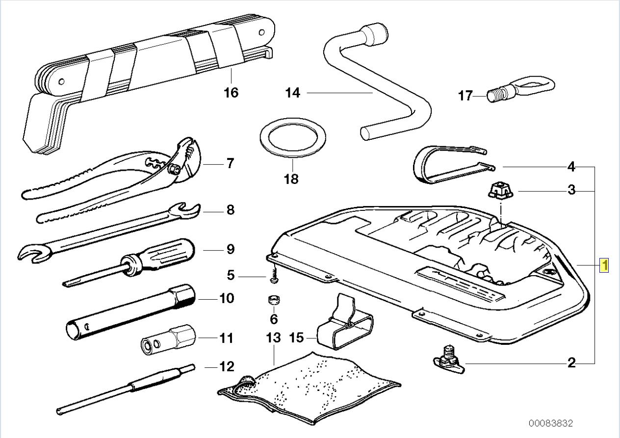 Bmw E31 E38 E39 Boot Trunk Tool Kit Holder Box