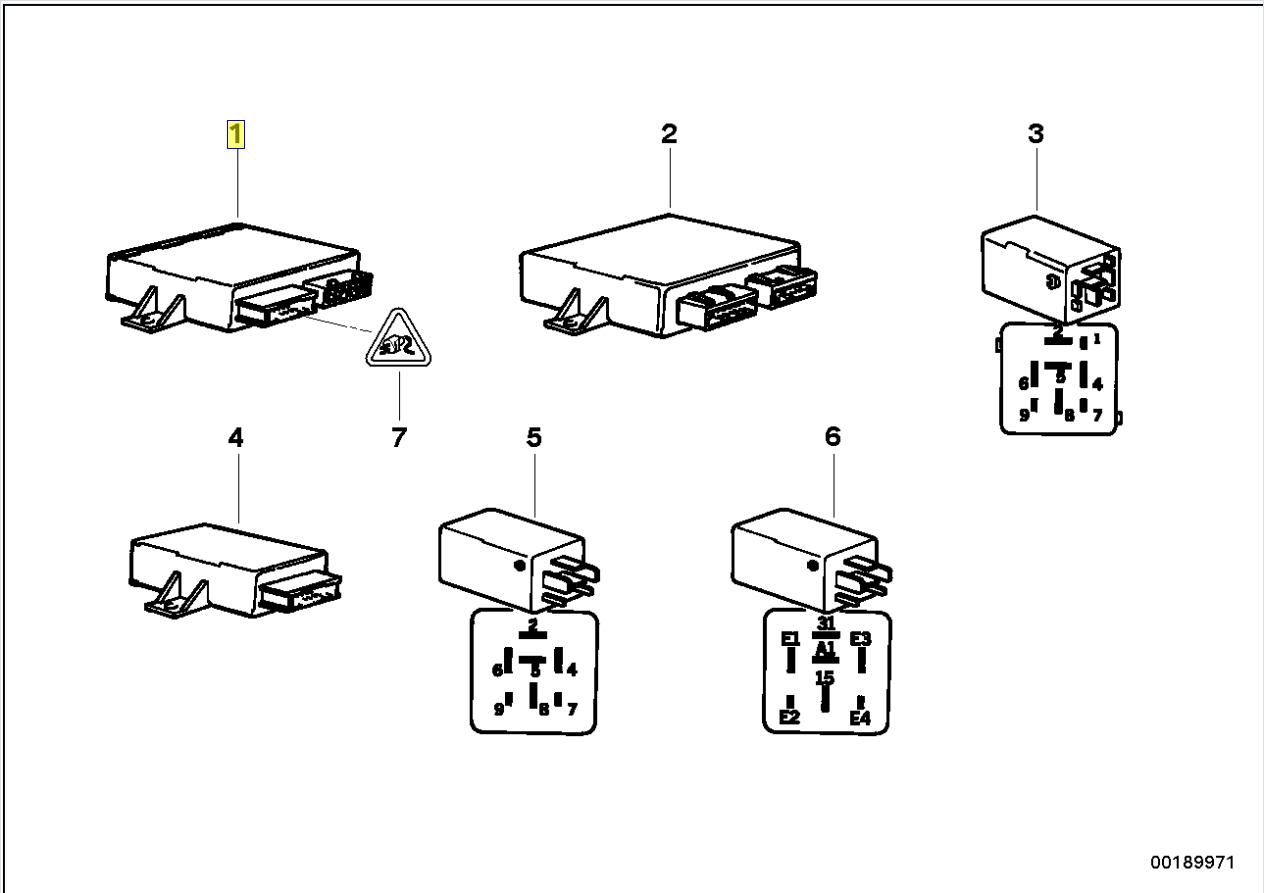 BMW E36 E34 Central Locking ECU Control Module 8360100