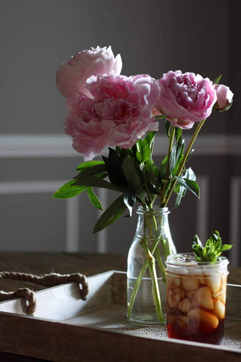 Sweet Mint Tea + Peonies