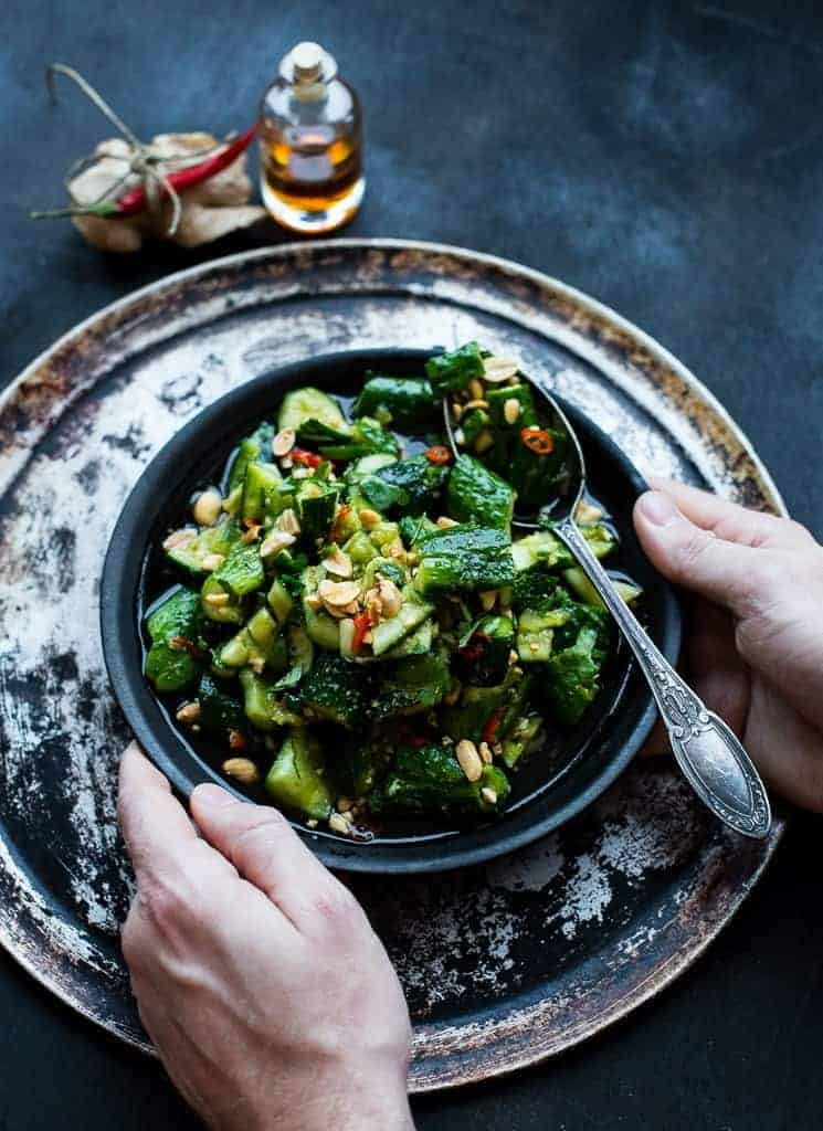 Spicy Cucumber Salad With Peanuts And Coriander Beaten