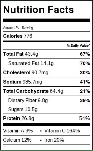 nutrition information medievil crock pot stew