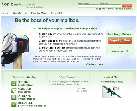 MailStopper - Formerly GreenDimes