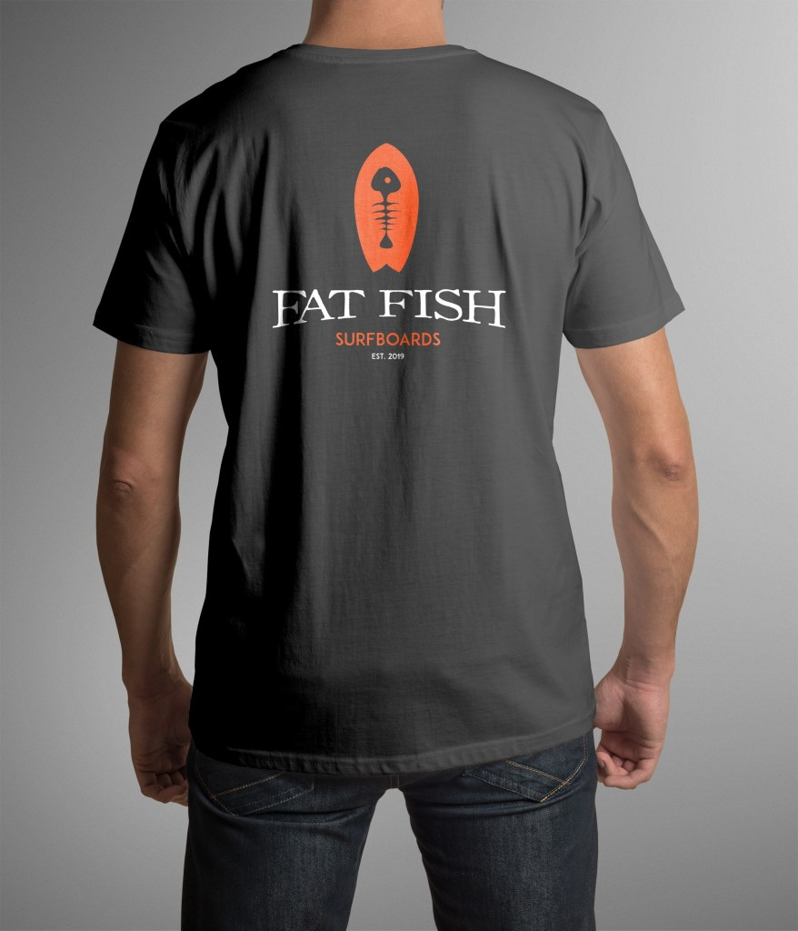 T shirt Fat Fish logo