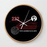 """222"" Wall Clock Black"