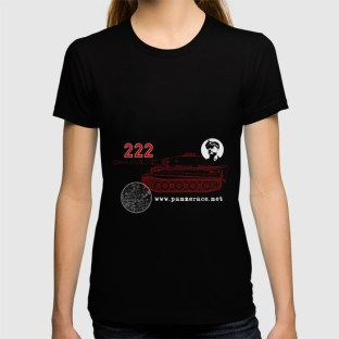 "Womens Fitted""222"" T-Shirt Black"