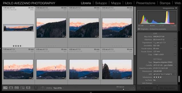 Un Panorama Raw fa compagnia alle immagini sorgente