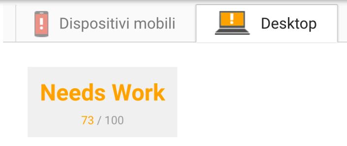 Google Page Speed Desktop