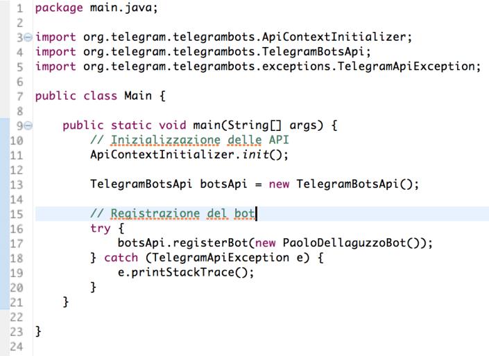 Come creare un bot telegram