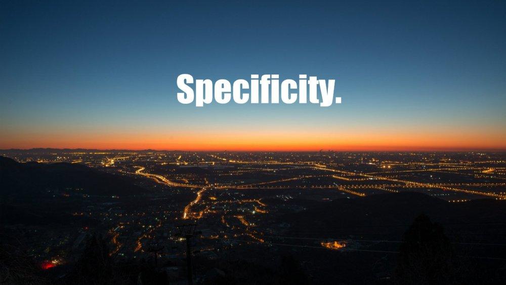 cos'è la specificity