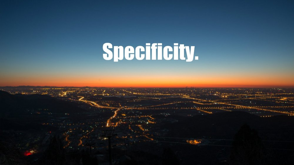 cos'è la specificity