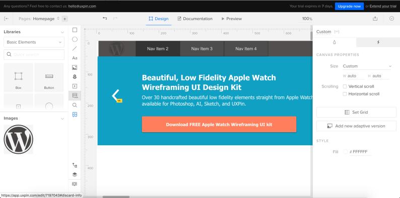 UXPIN strumenti per web designer