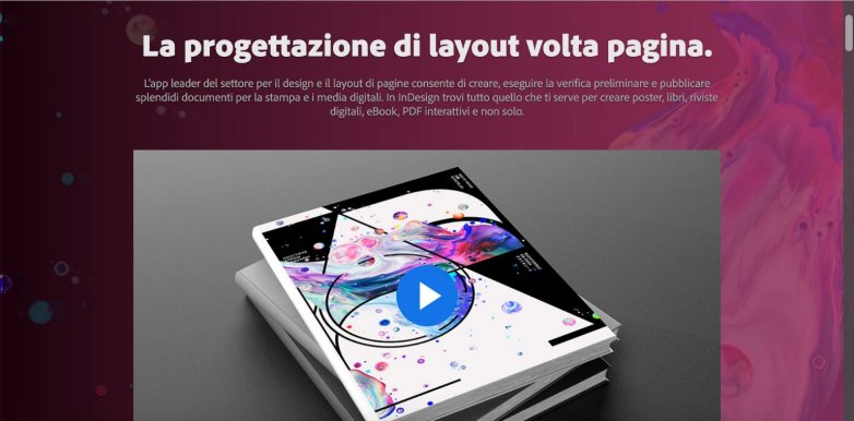 Adobe InDesign strumenti per web designer