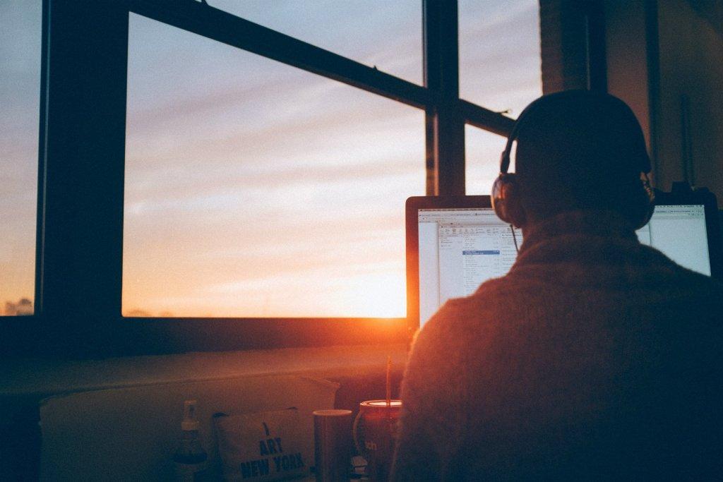 programmatore al tramonto