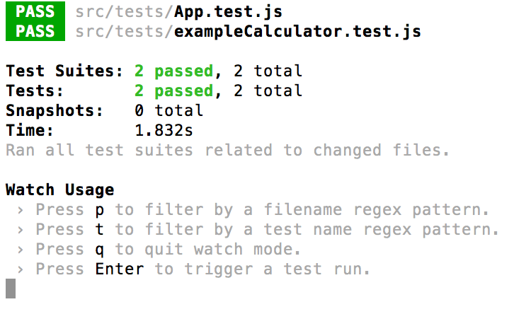 javascript test terminale
