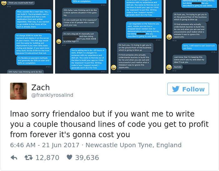 programmatore lavorare gratuitamente