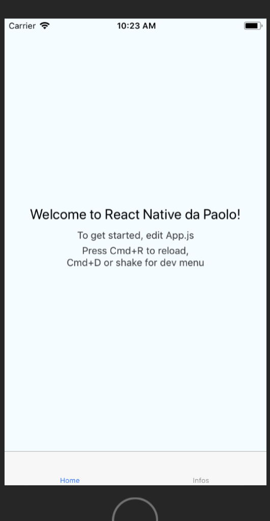 Home imparare React native