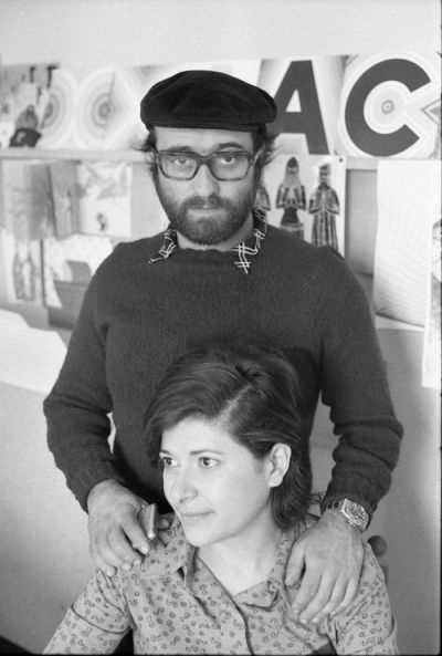 Dice che era un bell'uomo. Nella foto Lucio Dalla e Paola Pallottino - copyright Fotowall di Walter Breveglieri