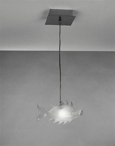 lampada con pesce a sospensione