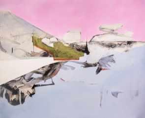 resina acrilica e pigmenti su tela, cm. 175 x 140, 2010