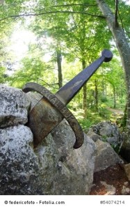 legendary and famous sword Excalibur to King stuck between the rock