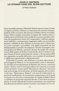 Giallo - Sherlock Holmes - Dottor Watson pag 171