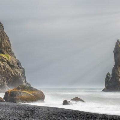 Black sand beach Vik,  Iceland