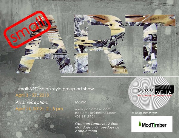 Small Art Salon-style Group Show Flyer