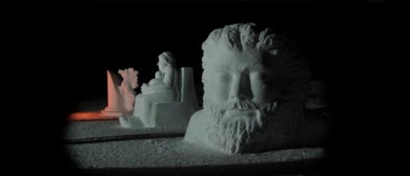 Scultore Paolo Moro. Sculture di neve. Claut(PN) anno 2007