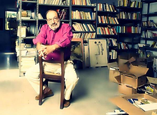 Umberto Eco e la biblioteca