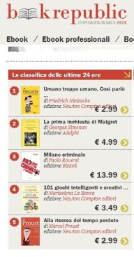 terzo nella classifica di Bookrepublic