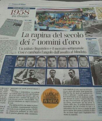 I sette uomini d'oro, secondo pezzo de i luoghi della Milano in nero