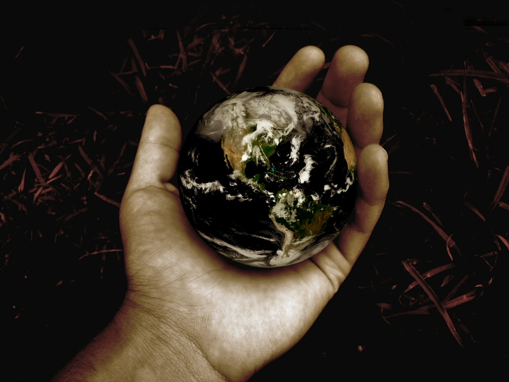 World in his hand