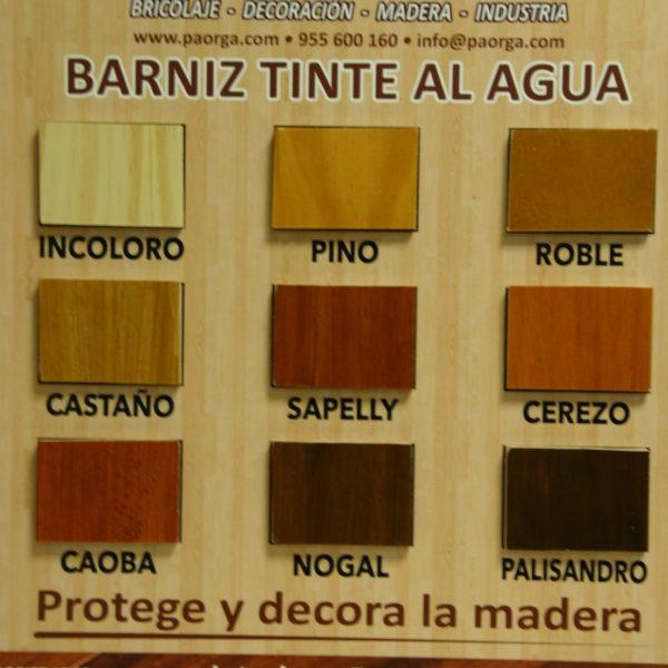 Barniz Tinte al Agua para madera  Productos Paorga