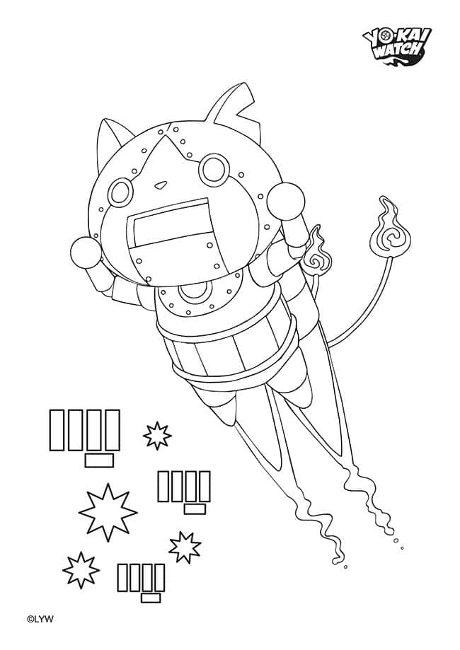 yo kai watch noko coloring pages coloring pages