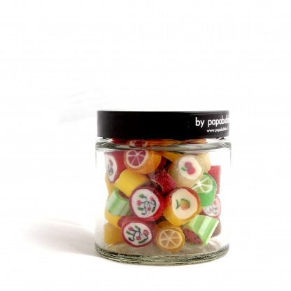 fruit candy in a 70gr jar