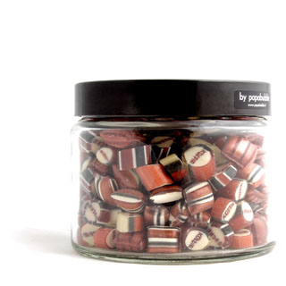 coffee candy in a 390gr jar