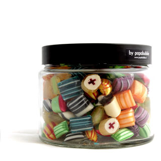 pillow fight candy in a 390gr jar