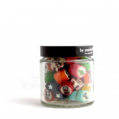 christmas candy in a 70gr jar