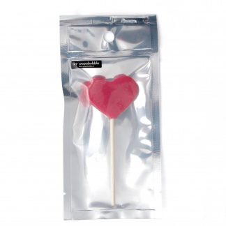 heart lollipop in a bag