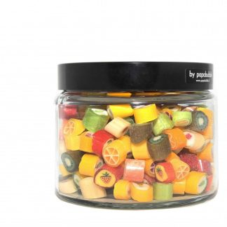 fruit candy natural colours in a 390gr jar