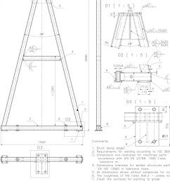 diy gantry crane gantry crane plans free cad drawings with dimensions free download cad drawings construction  [ 1200 x 1600 Pixel ]