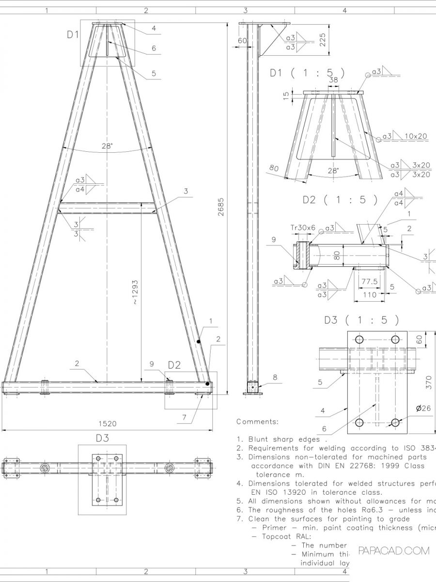 hight resolution of diy gantry crane gantry crane plans free cad drawings with dimensions free download cad drawings construction