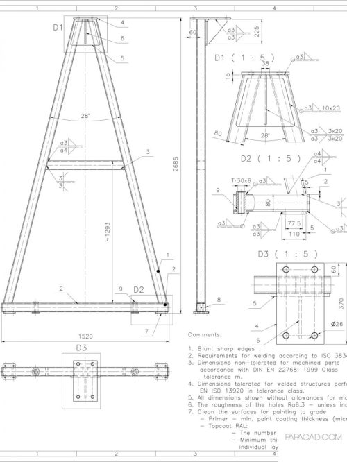 small resolution of diy gantry crane gantry crane plans free cad drawings with dimensions free download cad drawings construction