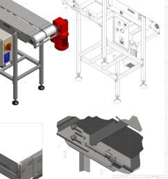 diy conveyor belt 3d models cad drawings free download [ 1050 x 1400 Pixel ]